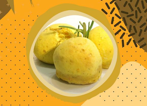 Pãozinho de abóbora com alecrim orgânico (sem lactose) - 6 unidades