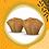 Thumbnail: Bolinho de Batata Doce Recheado com Frango Orgânico - 2 unidades