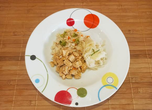 Lombinho com arroz colorido - infantil
