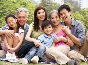 Portrait Of Multi-Generation Chinese Family Relaxing In Park Together.jpg