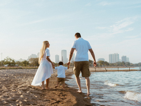 Family portraits on North Avenue Beach