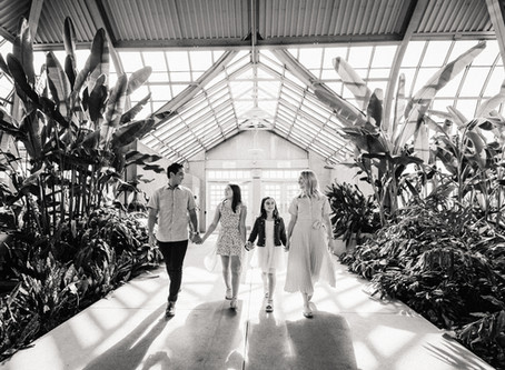 Family photos at the Garfield Park Conservatory