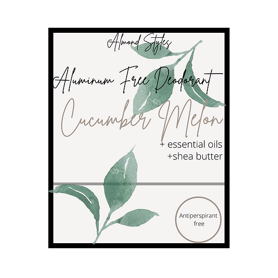 Cucumber Melon Aluminum Free Deodorant
