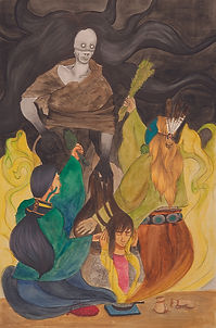 Sage and Cedar Shielding from Chíídíí Matchi Manitou (Evil Spirit)