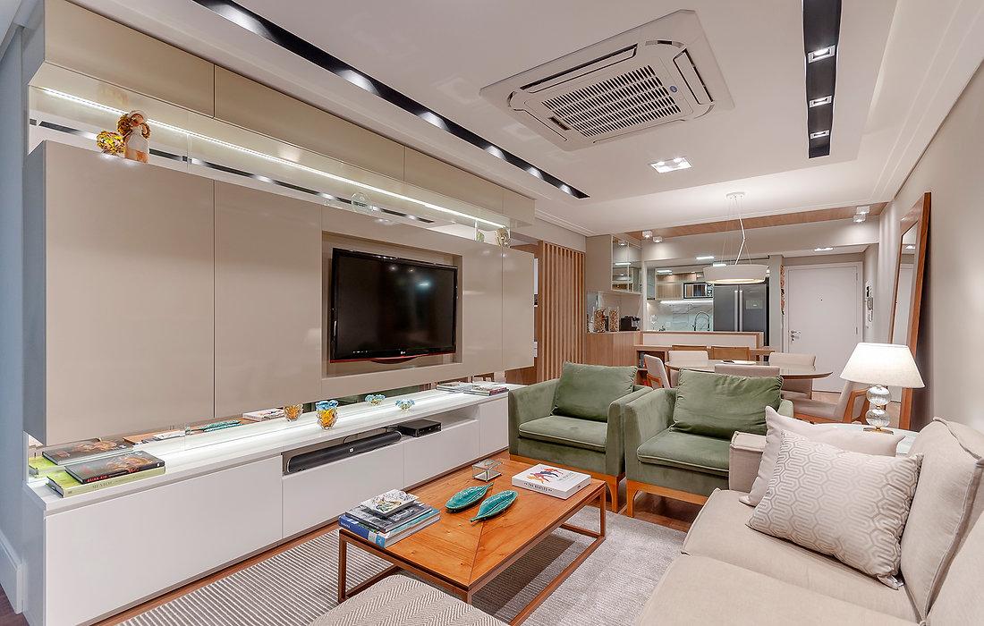 Projeto de Interiores modernos e contemporâneos.