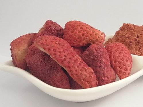 Frutilla orgánica y/o convencional Liofilizada en Slices