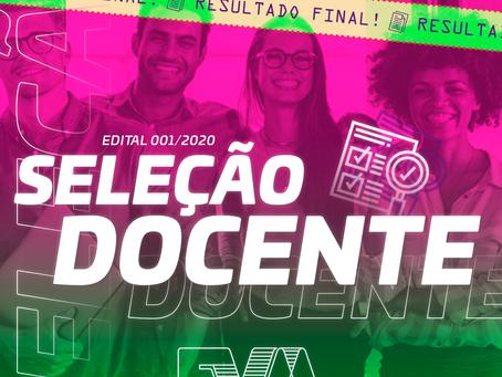 Resultado Final: Seleção Docente 2020/1