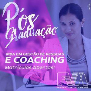 Matrículas abertas para o MBA Executivo em Gestão de Pessoas e Coaching da FVA