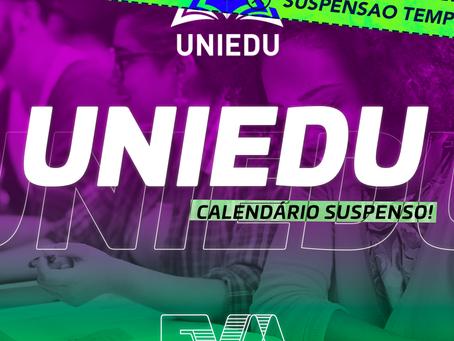 Programa de Bolsas UNIEDU | Suspensão Temporária