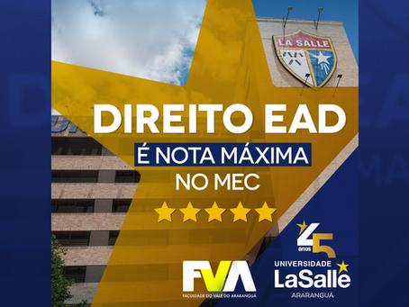 Universidade La Salle conquista Nota Máxima do MEC para oferta do curso de Direito EAD