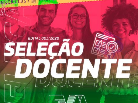 Candidatos inscritos no processo Seletivo Docente 2020/1
