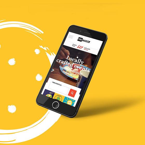 Yaymaker responsive homepage design