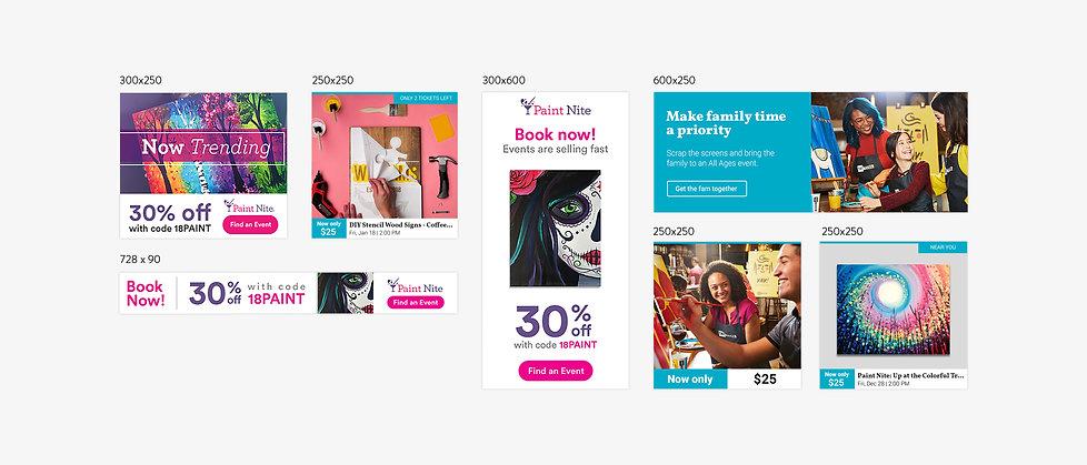 Yaymaker & Paint Nite Display Ads