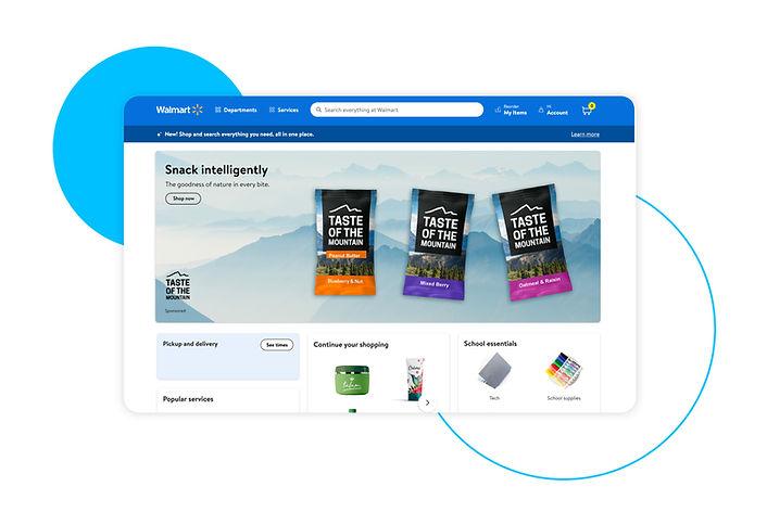 Walmart Connect Homepage POV