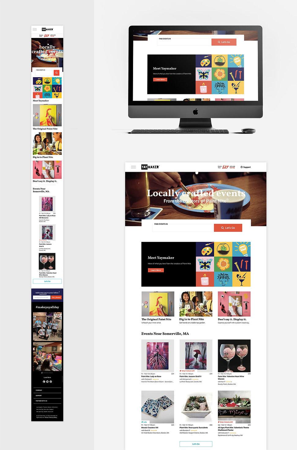 Yaymaker Website Homepage