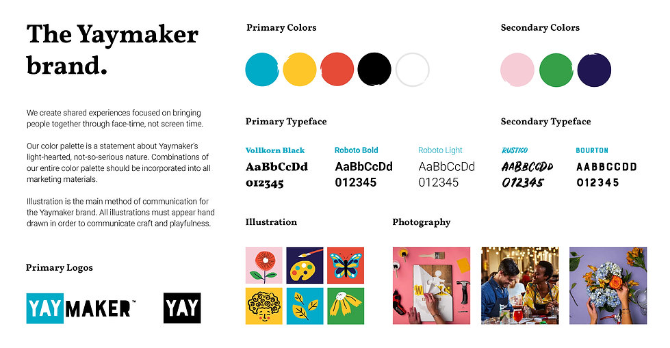 Yaymaker brand overview