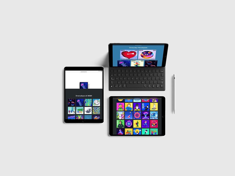 Everydays iPad view
