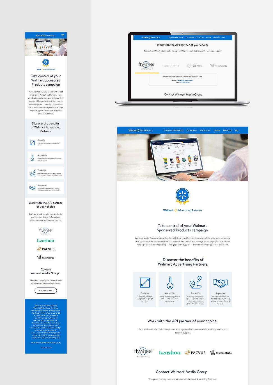 Walmart Advertising Partners Landing Page