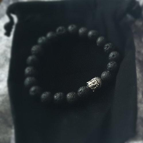 Buddhist Healing Infuser Lava Stone Bracelet