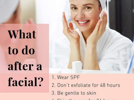 Facial Aftercare