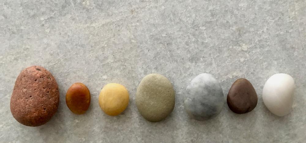natural chakra stones found along Cape Cod
