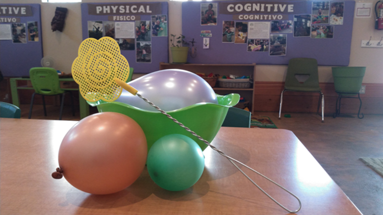Balloon Fun Sensory Bin