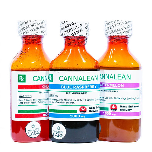 Vancity Labs Cannalean Infused Syrup (1000mg THC)