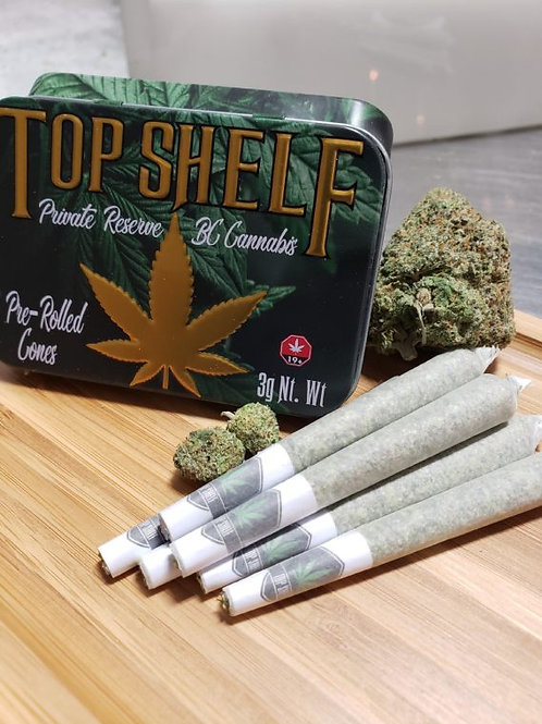 Top Shelf Private Reserve Pre-Rolled Cones