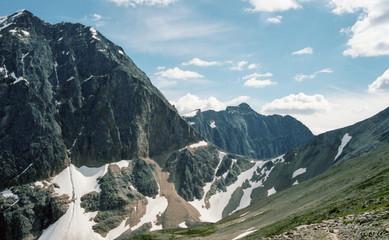 Mountain range near mount Edith Caval