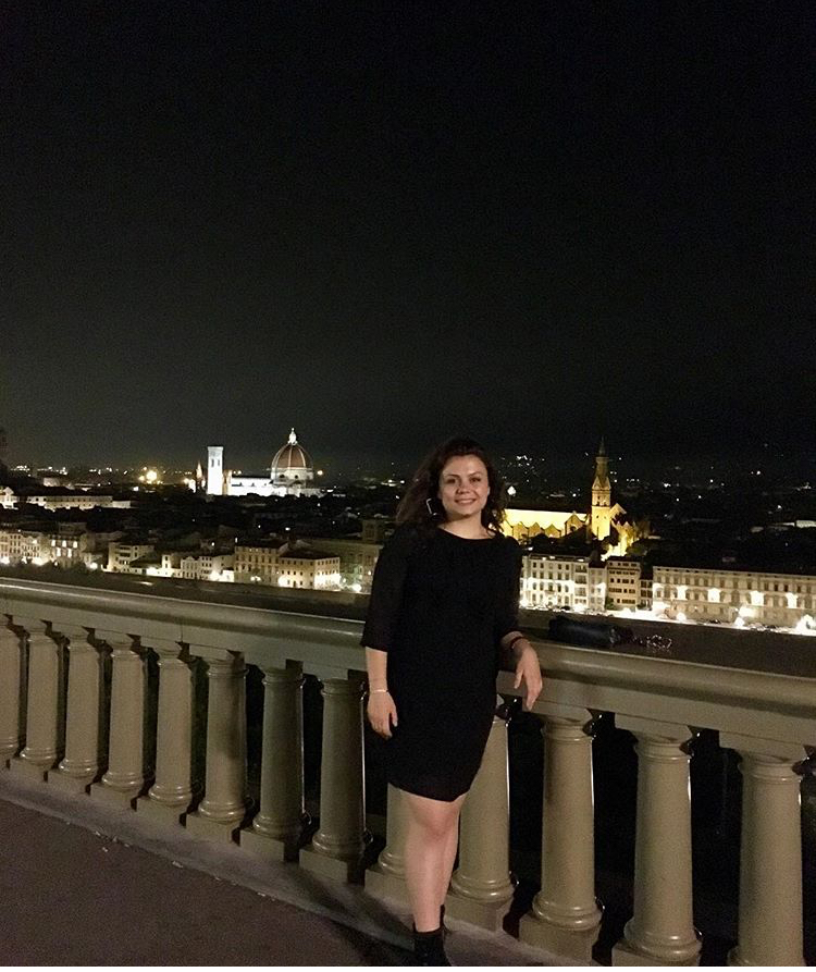 Irene in Piazzale Michelangelo a Firenze