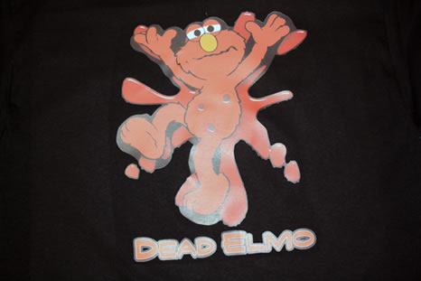 funny custom t-shirt dead elmo design yo