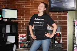 custom t-shirt designed by customer live