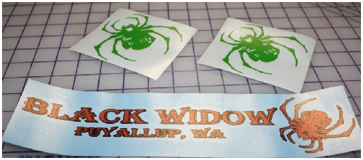 Black Widow Puyallup Wa sticker decal ki