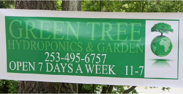 Green Tree Hydroponics & Garden Banner