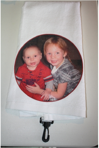 Golf bag towel photo print gift