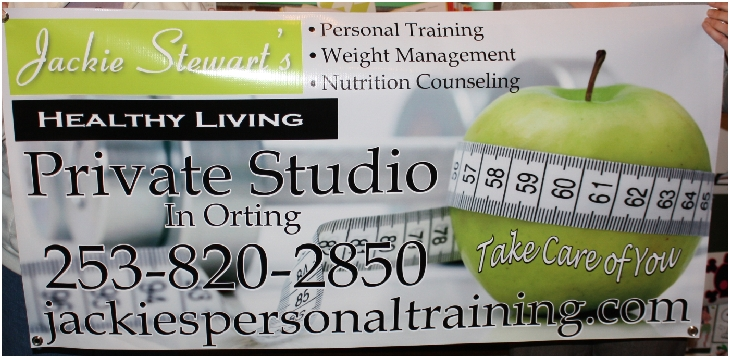 Jackie Stewarts personal training banner