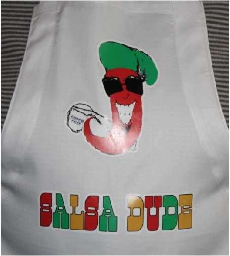 Salsa Dude custom apron