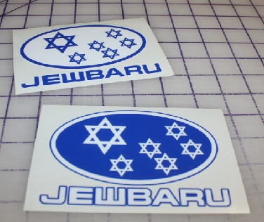 Jewbaru custom sticker decals