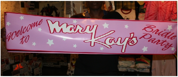 Welcome to Mary Kay Bridle Shower banner
