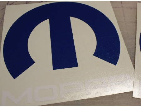 Mopar logo custom sticker decal