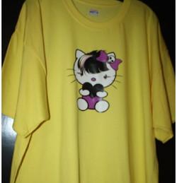 EMO Hello Kitty custom fan tshirt