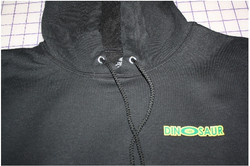 Dinosaur tire hoodie lapel logo print -