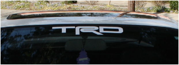 TRD windshield vinyl sticker decal