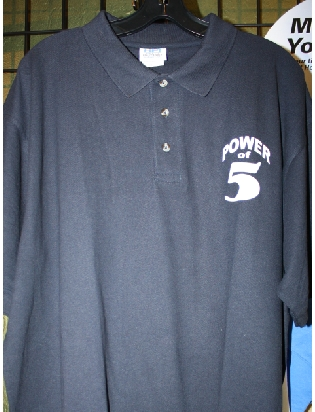 Power of 5 custom polo shirts