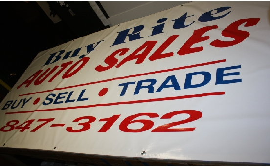 Buy Rite Auto Sales new location banner.