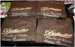 Distinctive Audio Video staff tshirts