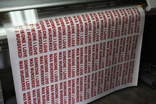 bumper stickers as printing one color so