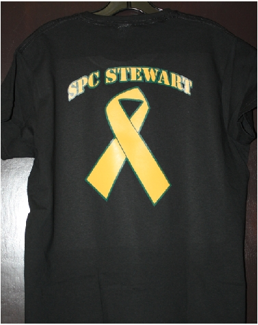 SPC Stewart Yellow ribbon custom tshirt