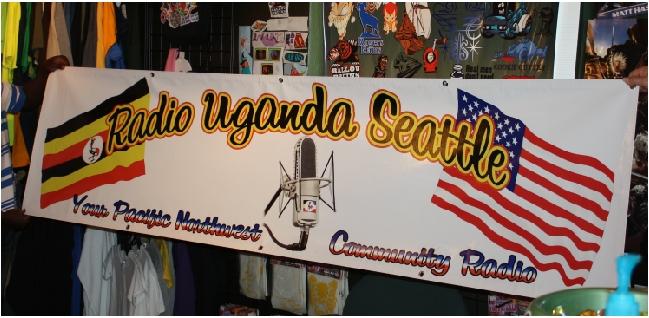 Radio Uganda Seattle banner print