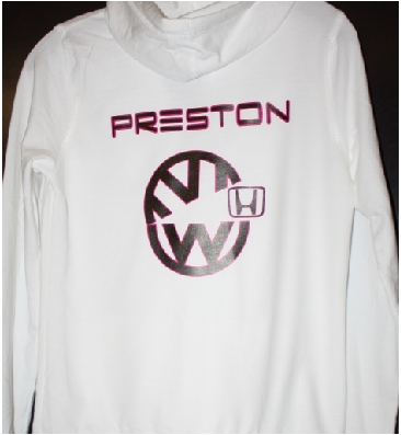 Preston VW eating Honda custom hoodie pr